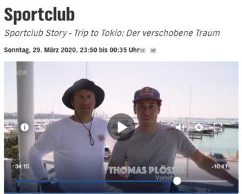 """49ER-TEAM ERIK HEIL & THOMAS PLÖSSEL IM """"NDR SPORTCLUB"""": """"TRIP TO TOKIO - DER VERSCHOBENE TRAUM"""